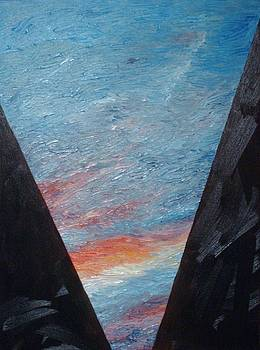Charing Cross Sunset by Kellie Hogben