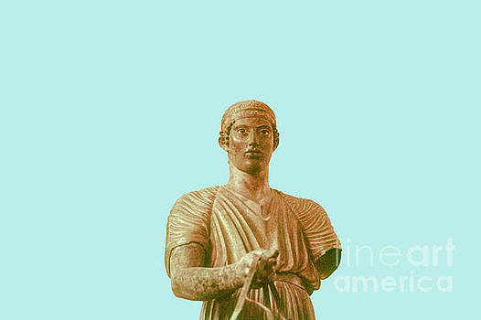Bob Phillips - Charioteer of Delphi - Blue Background