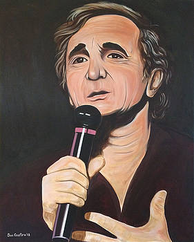 Charles Aznavour by Suzette Castro