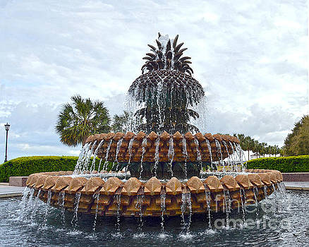 Charleston Pineapple Fountain by Catherine Sherman