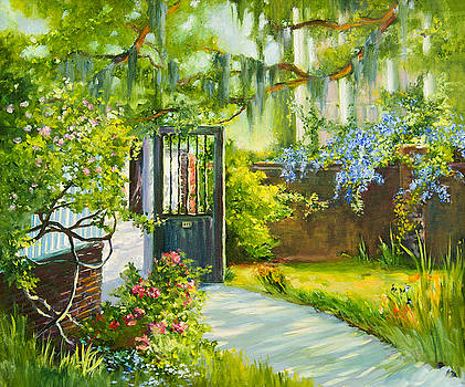 Charleston Side Garden by Jane Woodward