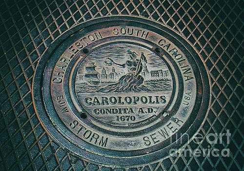 Charleston Storm Sewer Man Hole Cover by Dale Powell