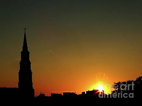 Charleston Sunset Skyline by Christy Ricafrente
