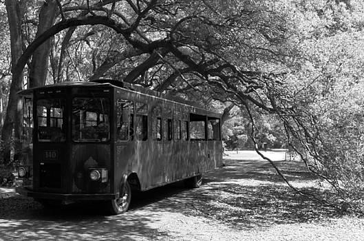 Charleston Tea Plantation Trolley Black and White by Melanie Snipes