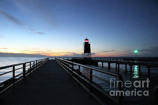 Charlevoix Light Tower by Laura Kinker