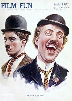 Charlie Chaplin, Film Fun cover january 1916 by Vintage Printery