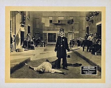 Charlie Chaplin, Lobby Card Easy Street 1917 by Vintage Printery