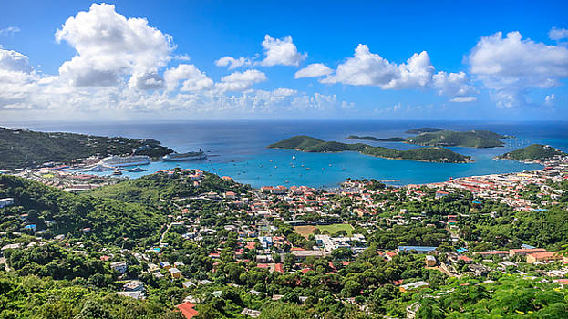Charlotte Amalie St. Thomas in the caribbean by Keith Allen