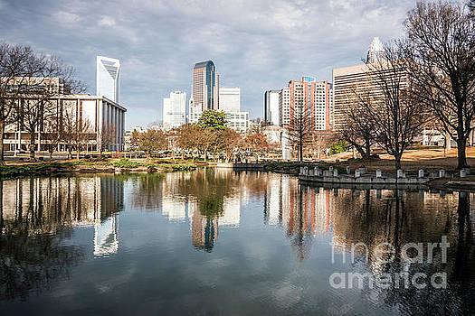 Paul Velgos - Charlotte Cityscape Reflection on Marshall Park Pond