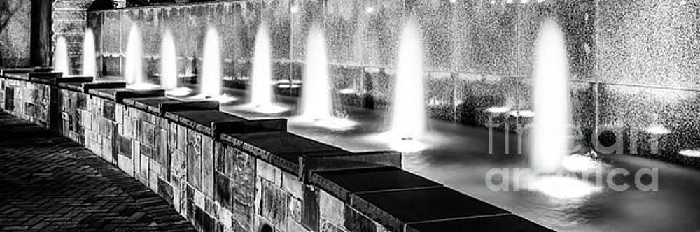 Paul Velgos - Charlotte Fountain Black and White Panorama Photo