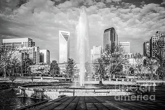 Paul Velgos - Charlotte Marshall Park Fountain Black and White Photo