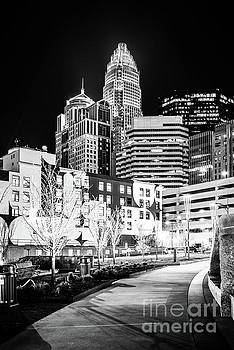 Paul Velgos - Charlotte NC at Night Black and White Photo