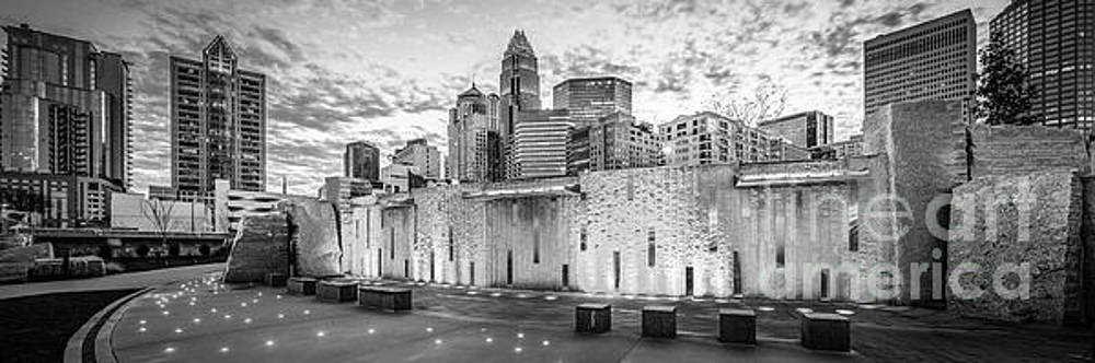 Paul Velgos - Charlotte NC Black and White Panoramic Picture