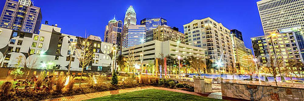 Paul Velgos - Charlotte North Carolina at Night Panorama Photo