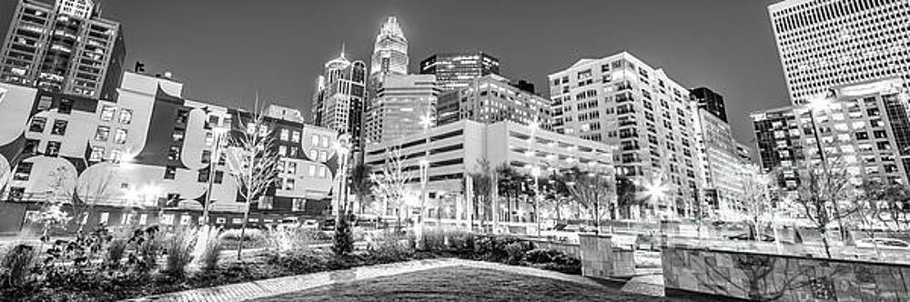 Paul Velgos - Charlotte Panorama Black and White Image