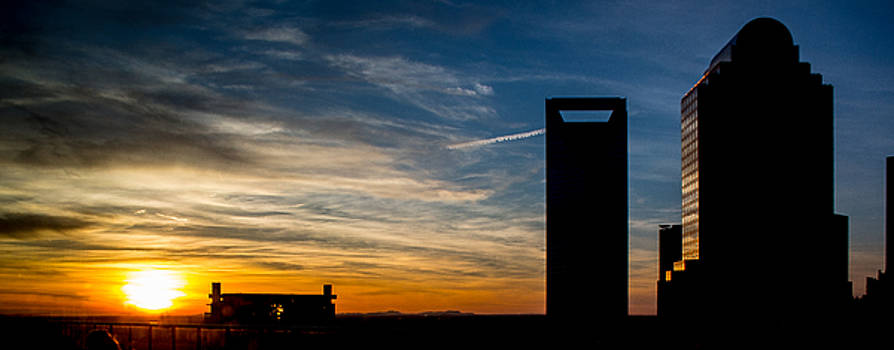 Charlotte Silhouette Sunset by Christine Buckley