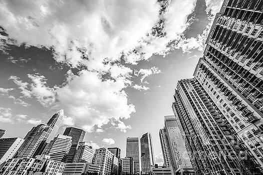 Paul Velgos - Charlotte Skyline Wide Angle Black and White Photo