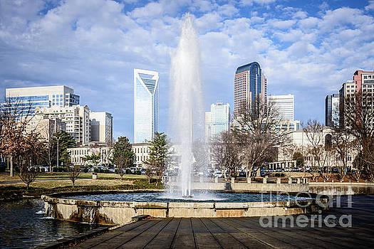 Paul Velgos - Charlotte Skyline with Marshall Park Fountain