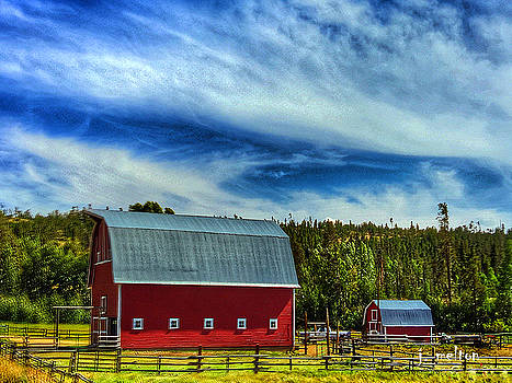 Charm of a Red Barn by Jack Melton