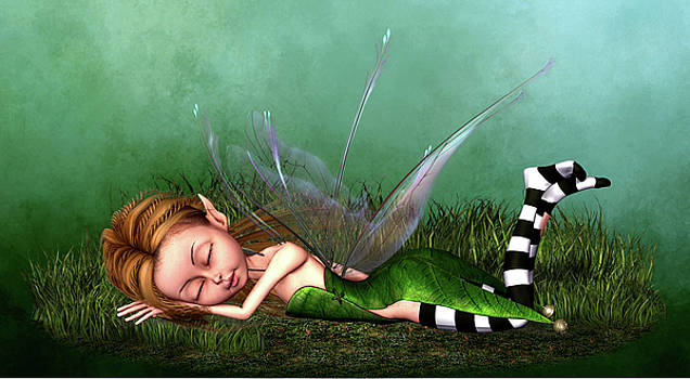 John Junek - Charming Sleeping Forest Fairy