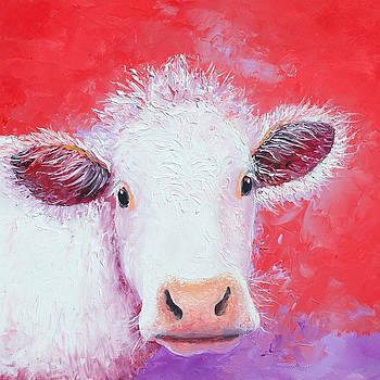 Jan Matson - Charolais Cow painting