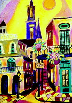 Chartres Street French Quarter by Ted Hebbler