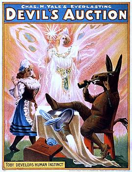 Chas. H. Yales everlasting Devils Auction, performing arts poster, 1904 by Vintage Printery