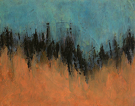 Chasing Stories Abstract Painting by Karla Beatty