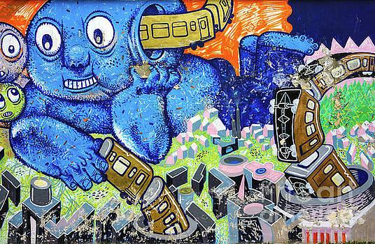 Chasing Trains - Graffiti by Daliana Pacuraru