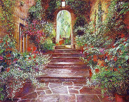 Chateau Courtyard Steps by David Lloyd Glover
