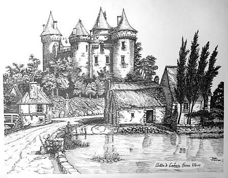 Chateau De Combourg France 1016ad by John Cullen