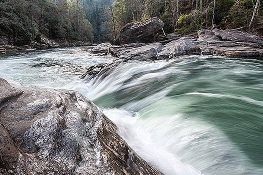 Chattooga River Winter Whitewater Cascade by Mark VanDyke