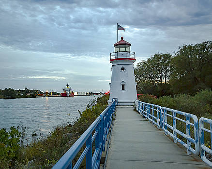 Jack R Perry - Cheboygan Crib Lighthouse Lake Huron, Lower Peninsula MI