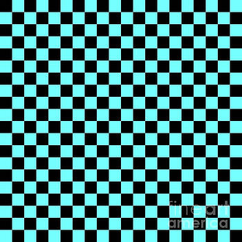 Checkerboad Light Blue by Sergio B