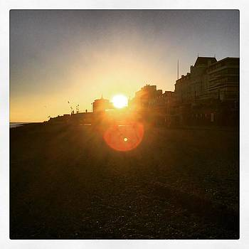 Sun Flare through Eastbourne Bandstand by Natalie Anne