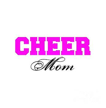 Cheer Mom Typography in Pink and Black by Leah McPhail