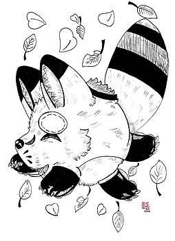 Cheerful Ringtailed Fox by  AmaSepia Gittens-Jones' Fox And Fantasy Designs