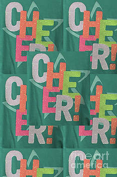 CHEERs Cheerful text see on tshirts pillows curtains towels duvet covers phones christmas holidays  by Navin Joshi
