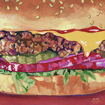 Cheeseburger With Pickle And Onion by Randal Huiskens