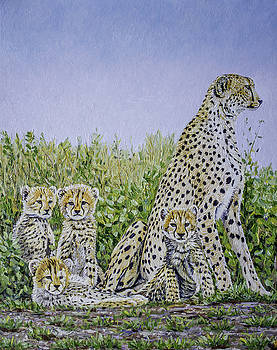 Cheetah Family  by Manuel Lopez