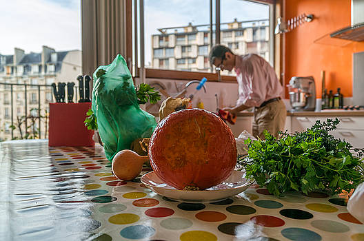 Chef Dury at home in Paris France by Nisah Cheatham