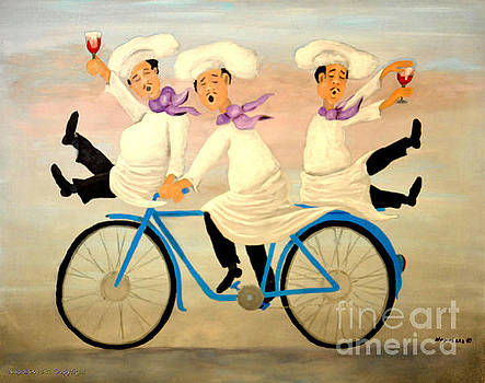 Chefs on a Bike by Barney Napolske