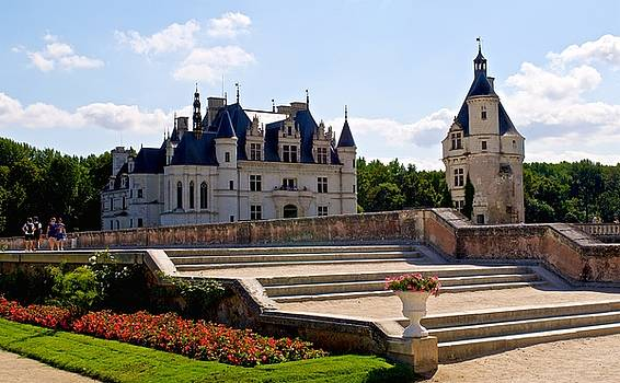 Chenonceau Garden Steps by Eric Tressler