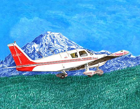Jack Pumphrey - Cherokee 6 Circling Mount Rainier