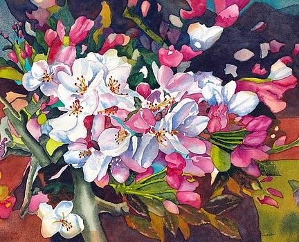 Cherry Blossom in the Bonsai Garden by Gerald Carpenter