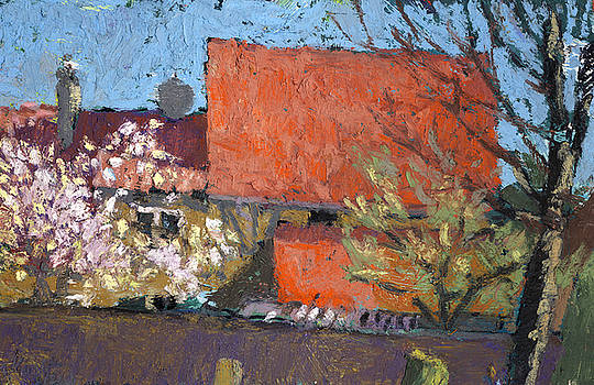 Martin Stankewitz - cherry blossom spring and red roofs