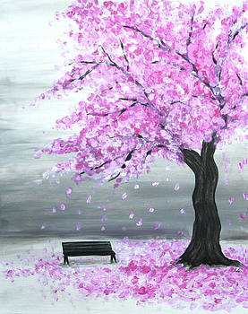 Cherry Blossom Tree by Kristine Mueller Griffith