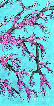 Barbara Griffin - Cherry Blossoms Against a Turquoise Sky 2