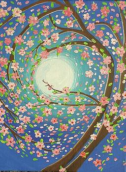 Cherry Blossoms around the Moon by Cynthia Silverman