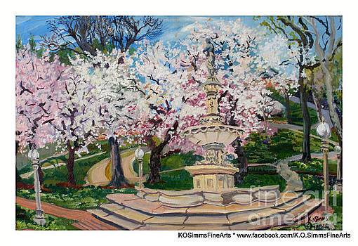 Cherry Blossoms on the Brandywine by Keith OBrien Simms
